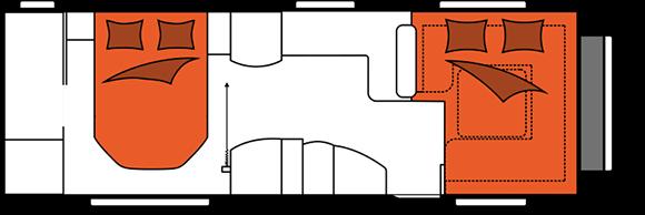 קרוואן נגרר הובי פרסטיג' דגם WQC 720 מצב לילה