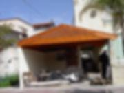 בניית גגות רעפים לחניה