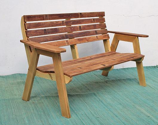 ספסל עץ איפאה זוגי