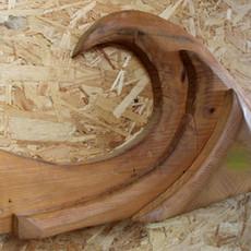 גל - אלמנט עיצובי מעץ