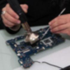 Reballing Computer-Reparatur