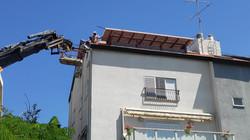 התקנת ארגז רוח מאלומיניום לגג רעפים