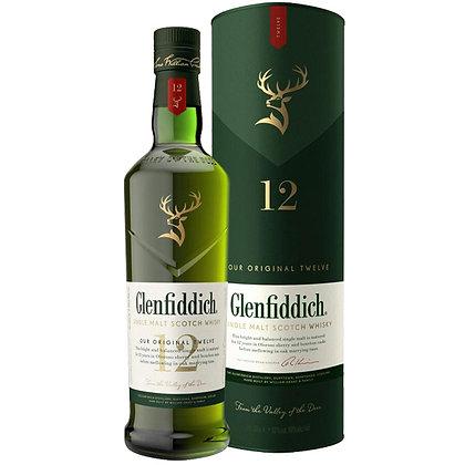 וויסקי גלנפידיך 12 שנה 1 ליטר Glenfiddich