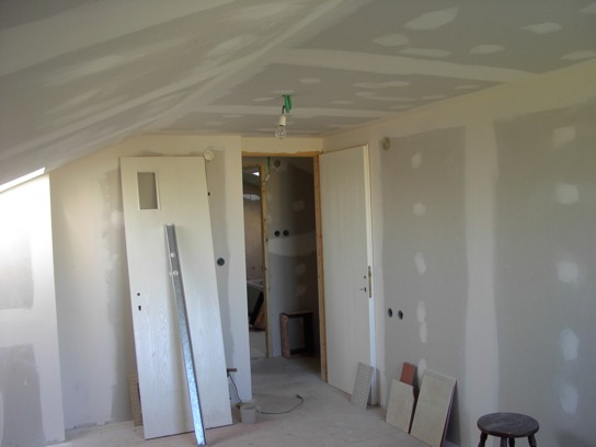 חדר מגורים במהלך העבודה