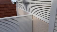 גדרות אלומיניום לבנים