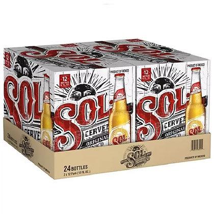 """בירה סול 24 בקבוקים 330 מ""""ל Sol"""