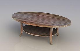 שולחן סלון ורד אליפסה