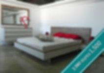 """מיטה + 2 שידות דגם תומר מתצוגה - 1,500 ש""""ח"""