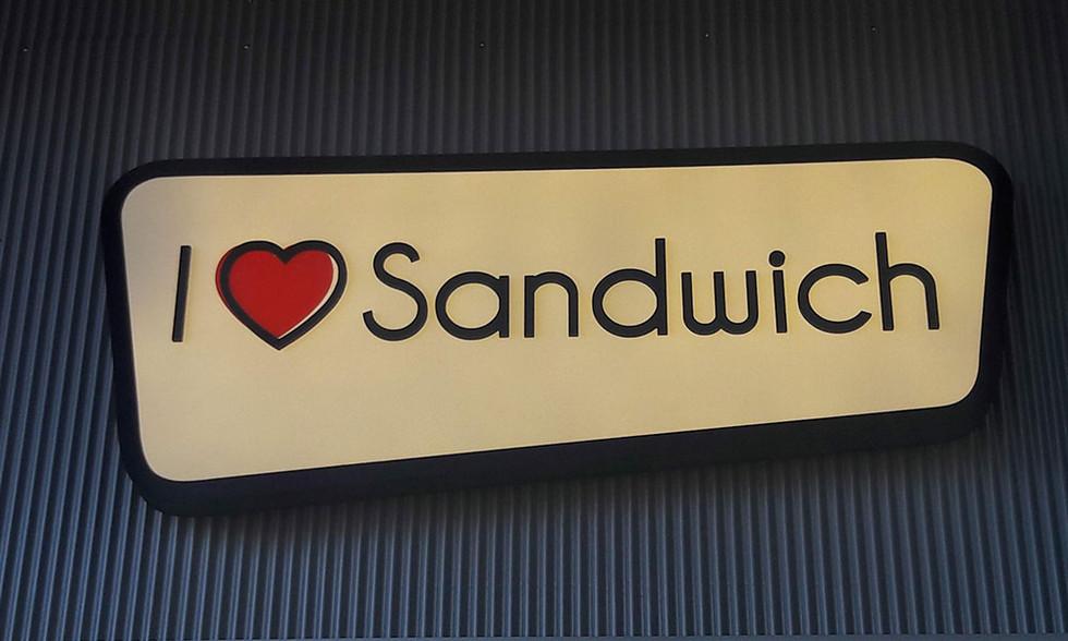 שלט ארגז תאורה עבור סנדוויץ'