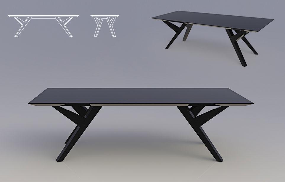 שולחן סלון ברק
