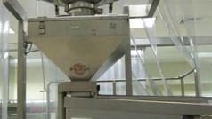 מתקן הזנה למסוע תעשייתי לחדרים נקיים