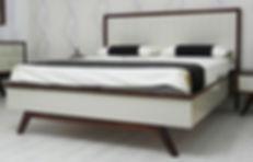מיטה מעוצבת - פורסט אגוז