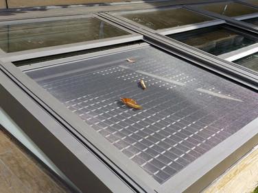גג הזזה חשמלי למרתף