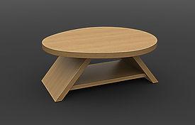 שולחן סלון ורד אובאלי