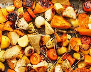 ירקות צרובים בתנור פרווה