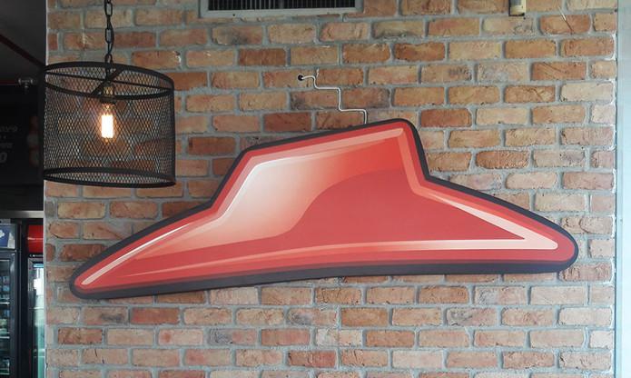 שלט ארגז תאורה עבור פיצה האט