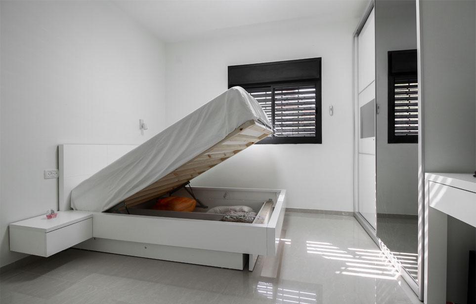 מיטת נוער עם ארגז נפתח