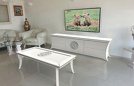 שולחן סלון קטליה לבן