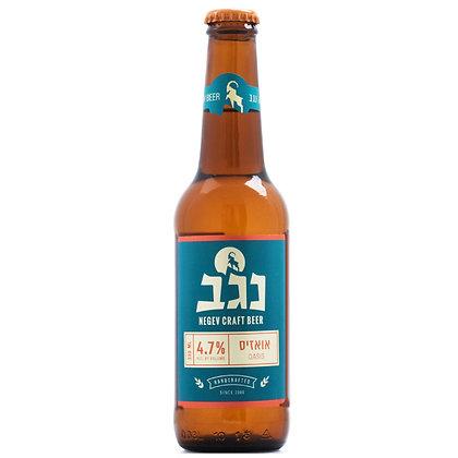 """בירה נגב אואזיס 24 בקבוקים 330 מ""""ל"""