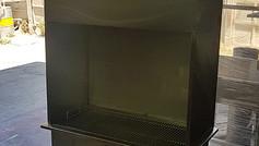 ייצור גריל פחמים עם קולט אדים וארובה
