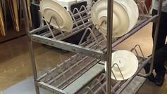 עגלת צלחות למטבחים מוסדיים