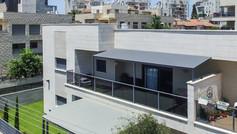 פרגולת אלומיניום לדירת גג