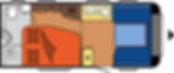 קרוואן נגרר הובי אקסלנט דגם WFB 495 מצב יום