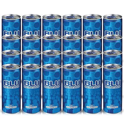 """משקה אנרגיה BLU - מארז 24 פחיות 250 מ""""ל"""