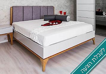 מיטה מעוצבת - גריי - לקבלת הצעה