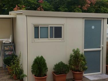 תוספת חדר בבנייה קלה לחצר