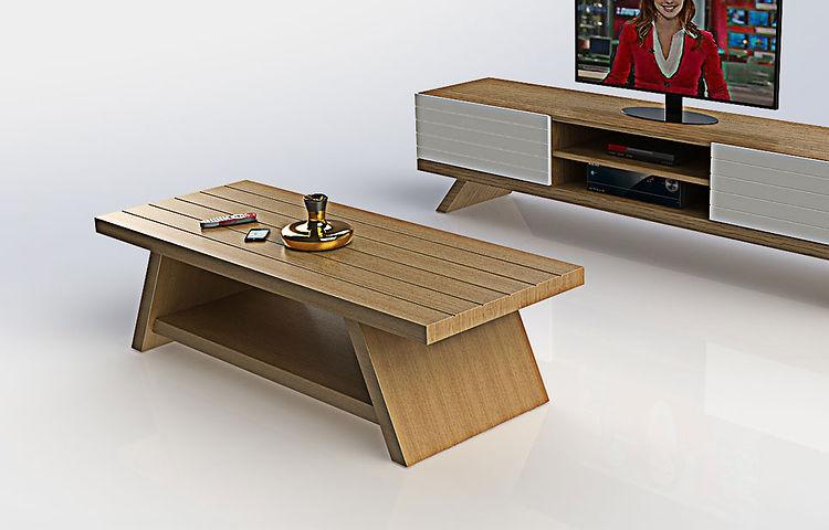 שולחן סלון ורד אלון