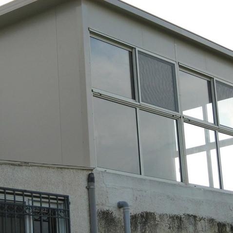 תוספת חדר בנייה קלה מאלומיניום