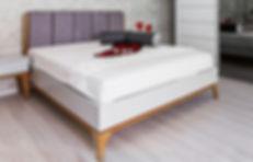 מיטה מעוצבת - גריי