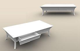 שולחן סלון שי לי לבן