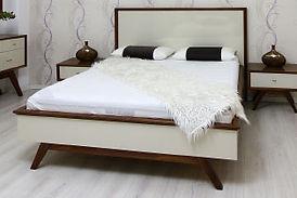 מיטה מעוצבת פורסט אגוז