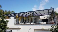 פרגולת אלומיניום למרפסת שמש