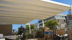 פרגולה מאלומיניום למרפסת גג