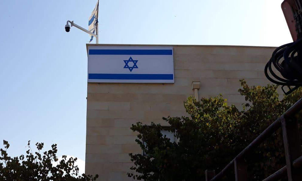 שלט ארגז תאורה דגל ישראל