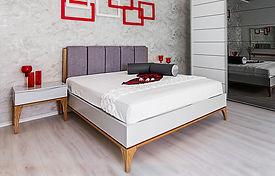 מיטה מעוצבת גריי