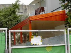 בניית גג רעפים למרפסת שמש