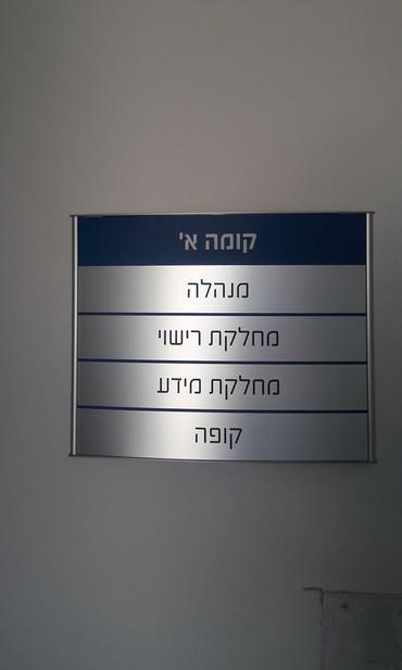 שלט הכוונה עבור הועדה המקומית לתכנון ובניה קריות