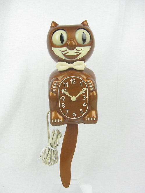 Plain Copper Kit Cat Clock