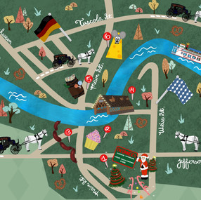 Frankenmuth, Michigan map for They draw and travel favourite places contest