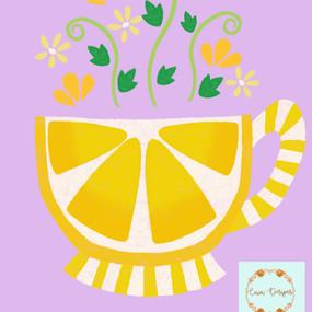 Lemon tea cup