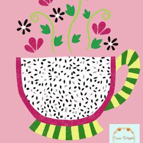 Dragon fruit tea cup
