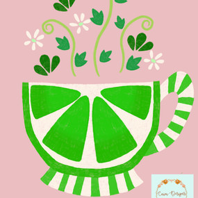 Lime tea cup