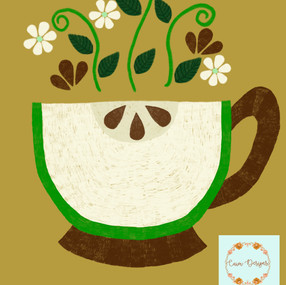 Green apple teacup