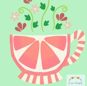Grapefruit tea cup