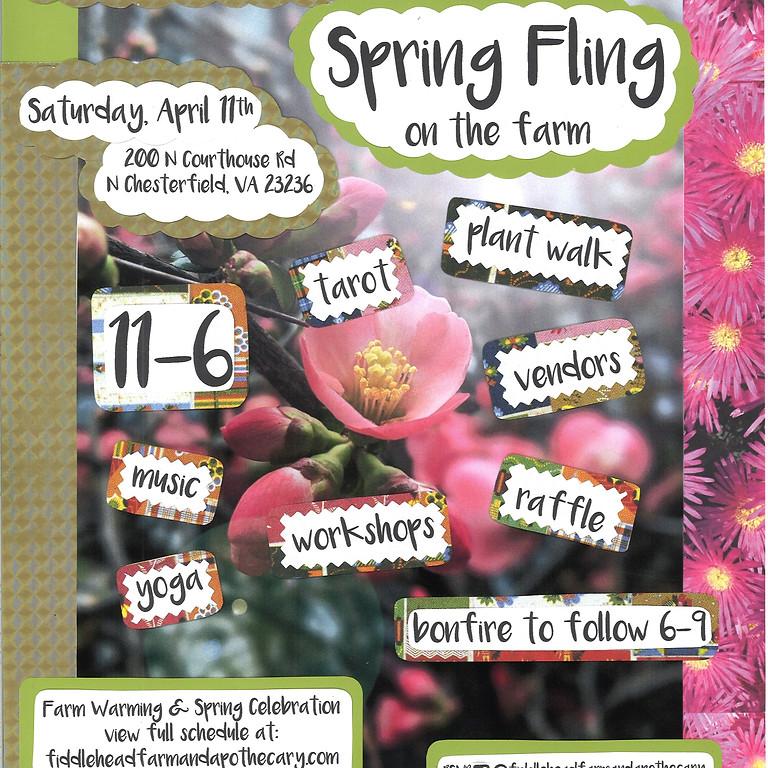 POSTPONED UNTIL FURTHER NOTICE: Spring Fling on the Farm! Farm Warming & Spring Celebration