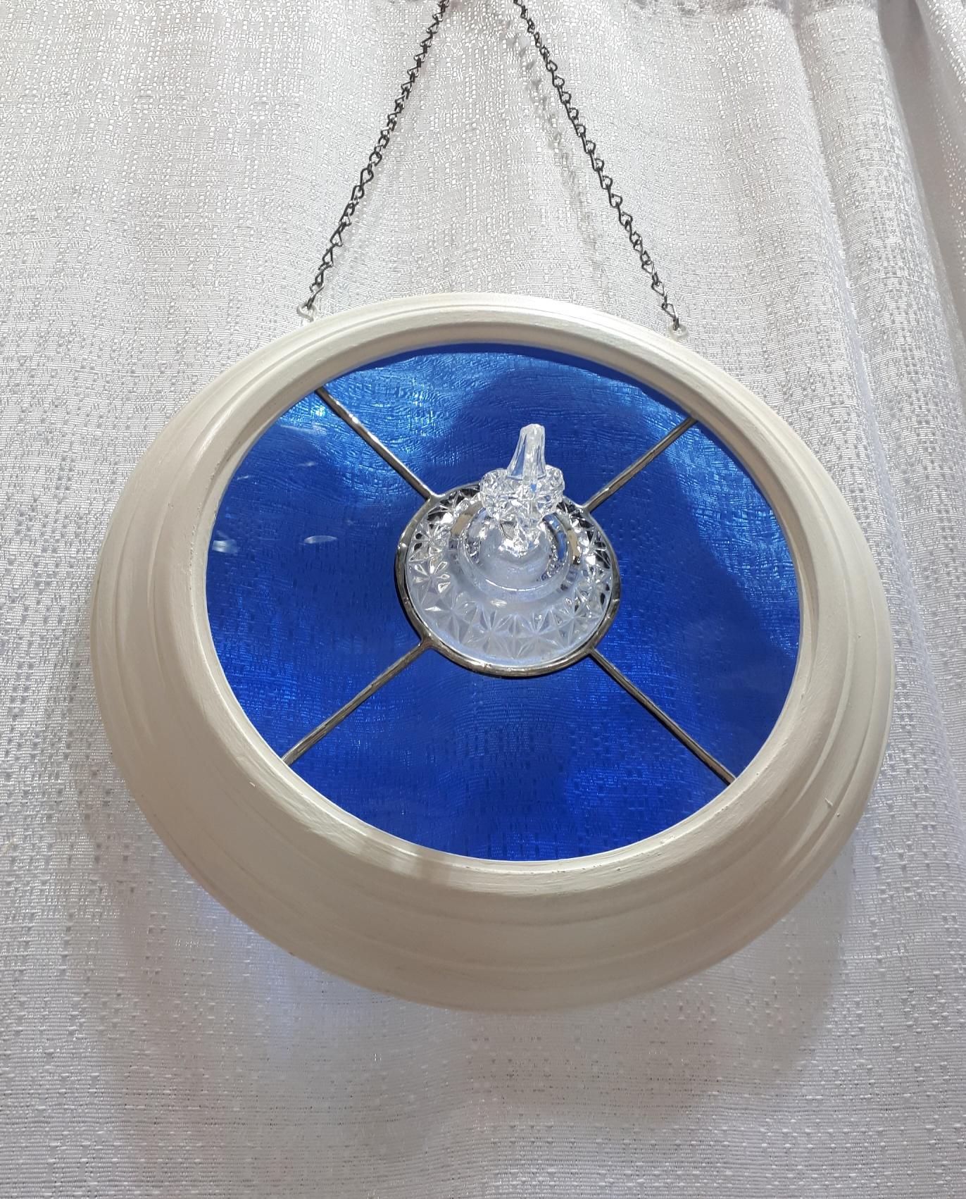 blue sugar bowl lid